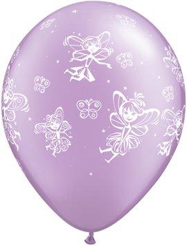Qualatex 45 913 cm Round Impression Retail Fées et Papillons/PRL Lvnd Balloon, 27,9 cm, 6 pièces
