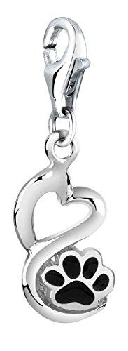 Nenalina Pfoten Charm aus 925 Sterling Silber, passend für alle gängigen Charmträger und Bettelarmband 714156-001