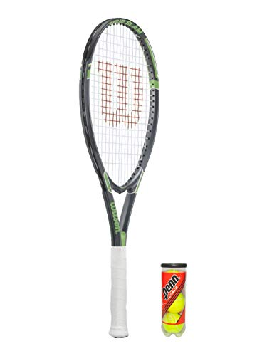 Wilson Tour Slam Silver - Raqueta de tenis y 3 pelotas de tenis