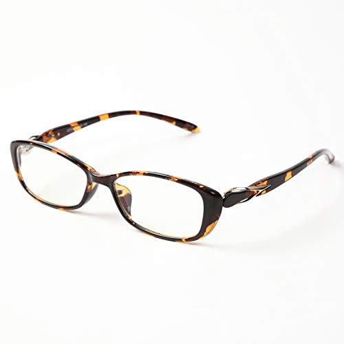 累進多焦点遠近両用老眼鏡(境目のない遠近両用メガネ) 22033PR 3色 7度数 (+4.00, べっこう調枠・クリアレンズ)