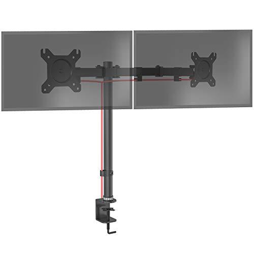 Duronic DM152 Monitorhalterung | Tischhalterung | Bildschirmhalterung | Monitorständer für Zwei LCD/LED Computer Bildschirme | Höhenverstellbar | VESA max. 100 x 100 mm| Stahlstruktur | 8kg pro Arm