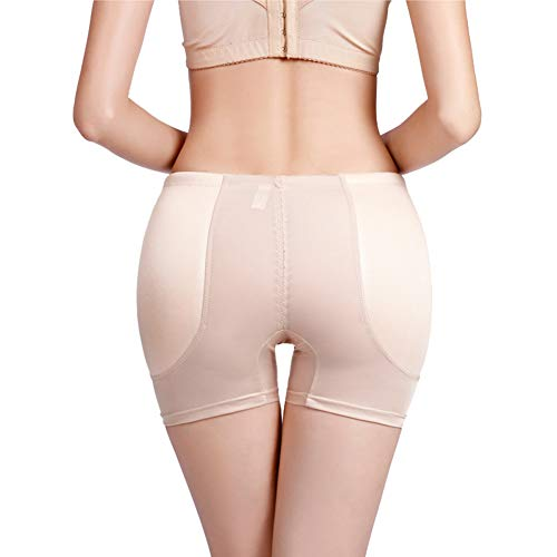 HotYou Mujer Bragas Braguitas Moldeadoras con Relleno Embellecer Cadera Lateral Calzones sin Costuras Push Up Butt Enhancer,Albaricoque,4XL