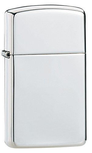 Zippo 1027001 Nr. 1500 - Accendino Sterling Silver Slim