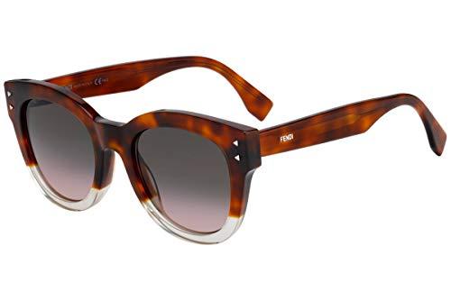 FENDI FF0239 / S Gafas de sol w/rosado de Brown Gradient 50mm lente 0T4M2 FF0239S FF FF 0239 0239S / S mujer oscuro Habana Grande