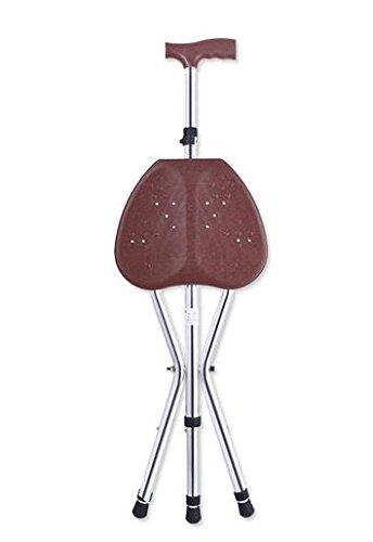 YAO Medical faltbar Gehstock Mit Integriertem Sitz Justierbarer faltender gehender Stuhl-Stuhl-Schemel-Massage-gehender Stock