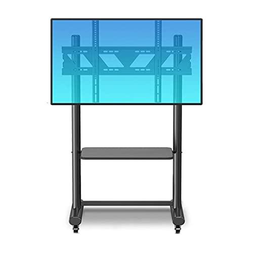 Soporte de TV Soporte de TV móvil para la mayoría de pantallas de 55-75 pulgadas / 32-75 pulgadas / 55-80 pulgadas Carrito de TV universal con ruedas giratorias, soporte de piso de TV inclinable en al