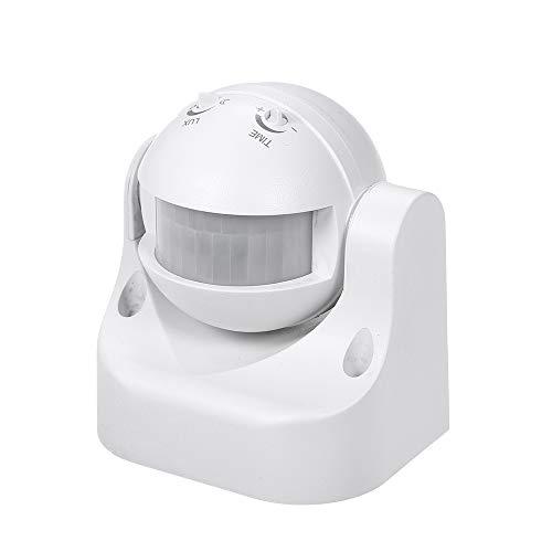 Galapara Infrarot Bewegungsmelder,Infrarot Aufputz-Bewegungsmelder für Innen- und Außenbereich IP44 180° Wandmontierter Infrarotdetektor Bewegungsschalter für Feuchtraum Aussen