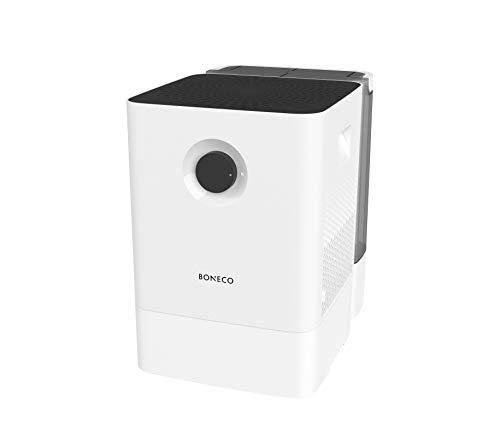 BONECO Luftbefeuchter Luftwäscher W300 - mit extra langer Laufzeit und komfortabler Handhabung dank zusätzlichem Wassertank, weiß