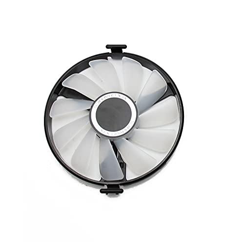FDC10U12S9-C Reemplazo de Ventilador de refrigerador para XFX AMD Radeon RX 470 480 580 RX580 RX480 RX470 Edición EDICIÓN Crimson Graphics Card Fan de enfriamiento (Blade Color : Red Light 1PCS)