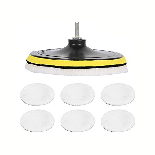 39pcs-6pcs Pulido de automóviles Pasteles de esponja del automóvil Kit de espuma Almohadilla de tampón Kit de pulido Máquina de pulido Almohadillas de cera para eliminar los arañazos ( Color : 6 Pcs )