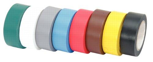 KS Tools 141.6010 Nastro Isolante in PVC, Multicolore, 8 Pezzi