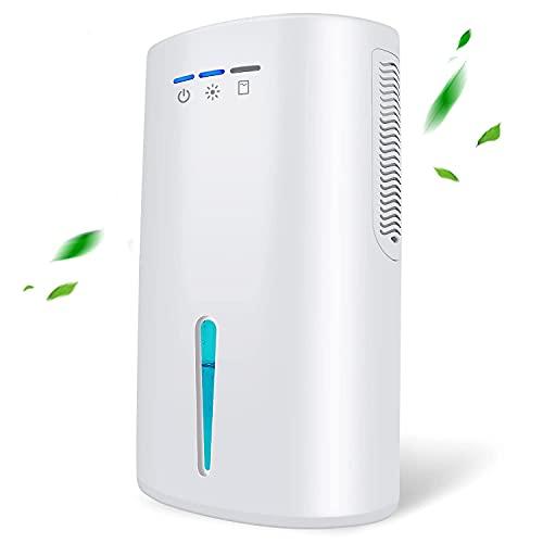 Gocheer Dehumidifier,Mini Electric Dehumidifier 2000ml Portable Mini Ultra Quiet Air Dehumidifier for Kitchen, Bedroom, Caravan, Office, Garage, Bathroom, Basement