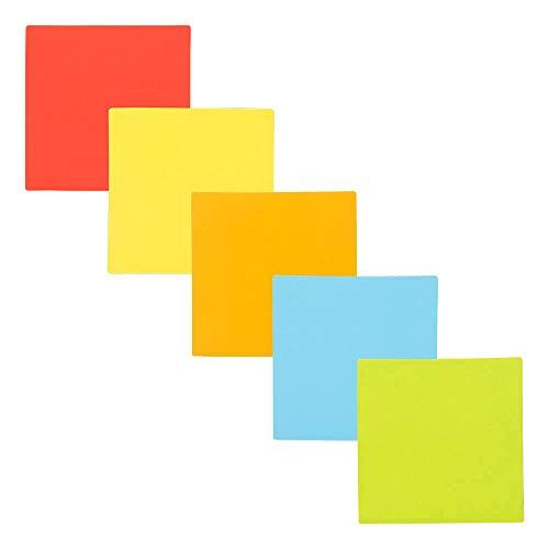 Imanes Cuadrados - Juego de 25 imanes - Escribir, limpiar y reutilizar (Variado, 5 x 5 cm)
