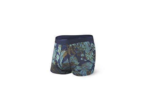 SAXX Underwear Co. Kofferraumunterwäsche - Platinunterwäsche - Kofferraumhose Mit Integrierter Unterstützung Für Baseballtaschen Herren|Navy Souvenier Shirt|Groß