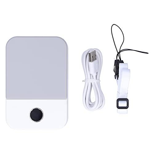 Ventilador eléctrico, Ventilador de Cuello LED de refrigeración para Exteriores para Deportes(White, Pisa Leaning Tower Type)