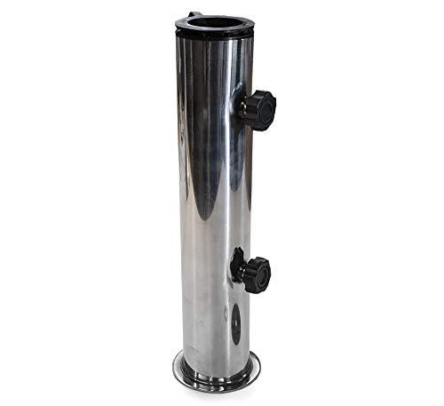 osoltus Tubo de soporte universal de acero inoxidable para sombrillas de granito, 30/40 kg