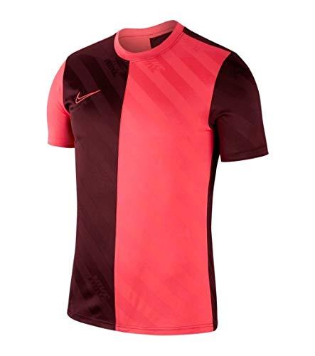Nike M Nk Dry Acdmy Top Ss AOP - Night Maroon/Racer pink/Racer pink, Größe:XL