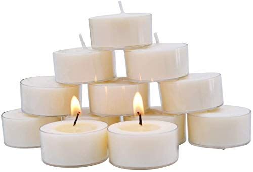 L-entcy 1.5 pulgadas 12 piezas lámpara de vela natural cera de abejas vela orgánica fragancia natural sin humo limpio quema