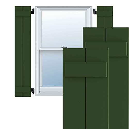 "Ekena Millwork TFP101BBF11X075HG True Fit PVC Joined Board-n-Batten Shutters (Per Pair - Hardware Not Included), 10 3/4""W x 75""H, Viridian Green -  CWB12X075CGC"