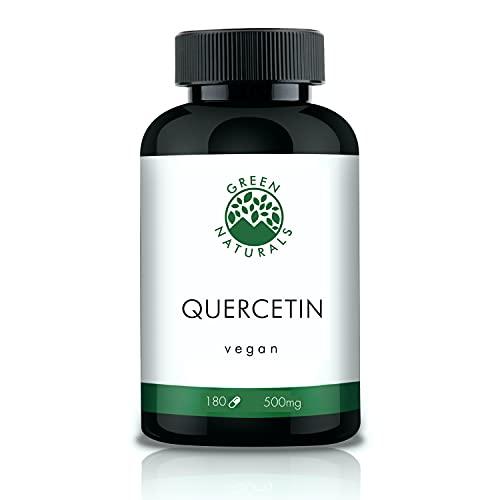 Quercetin - 180 Kapseln á 500mg aus deutscher Herstellung – 100% Vegan & Ohne Zusätze - Vorrat für 6 Monate. Bonus Venen Ratgeber (eBook)