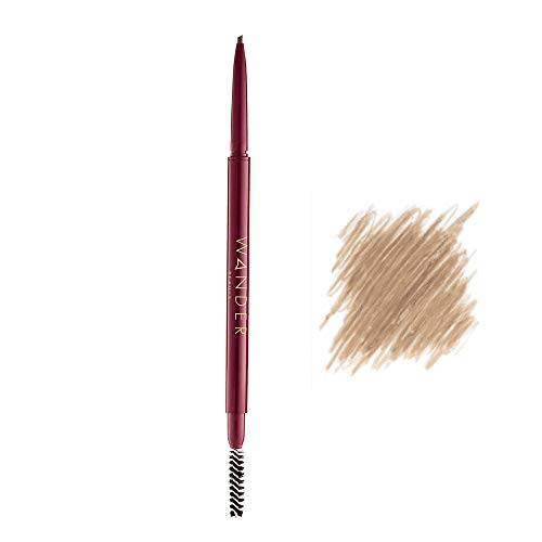 Wander Beauty Frame Your Face - Taupe Eye Brow Pencil - Mechanical Microblading Eyebrow Pencil & Eyebrow Shaper. Precision Eyebrow Pencil & Vegan Eyebrow Makeup. Cruelty Free Eyebrow Pencil.