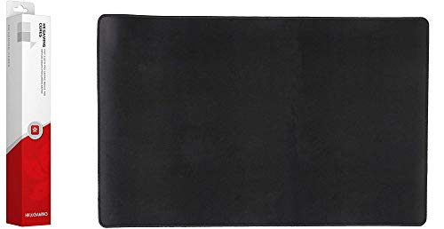 HK Gaming Ceres Fast Cloth Gaming Mousepad with Sitched Edges (Black, L   600 x 400mm   23.7 x 15.7 in)