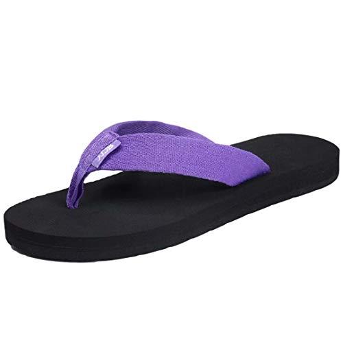 [NeedBo] NDB ビーチサンダル レディース 痛くない ビーサン メンズ 厚底 島ぞうり 軽量 歩きやすい 室内履き 海 プール リゾート 紫 25cmパープル 25.0 cm 3E