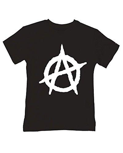 Símbolo de la anarquía - Anti Establecimiento icono Estilo Bebés/Niño T-Shirt Negro Negro ( 2-3 Años