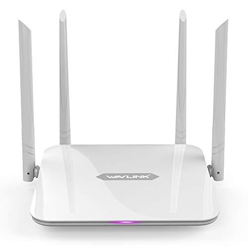 WAVLINK 1200Mbps WiFi ルーター ギガビット AC1200 ハイパワーワイヤレス Wi-Fiルーター デュアルバンド 5Ghz+2.4Ghz 2x2 5dBiアンテナインターネットルーター AP//WISP/ルーター
