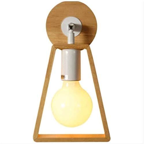KJAEDL Sconces Wall Lighting Modern Solid Wood Small Simple Wooden TV Wall Corridor Lamp Bedroom Night