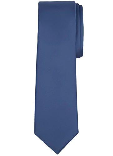Jacob Alexander Solid Color Men's Regular Tie - Steel Blue