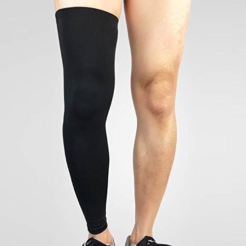 Tuzi Qiuge Leg Kompression Ärmel, Beinlinge Fußball, Bein Stützhülse, Unterschenkel Preßhülse, Bein-Hülsen QiuGe (Color : Black)