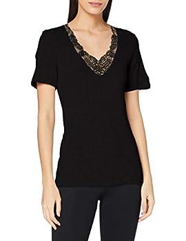 Damart Tee Shirt Manches Courtes Maille AJOUREE-37174 sous-vêtement, Noir, L Femme