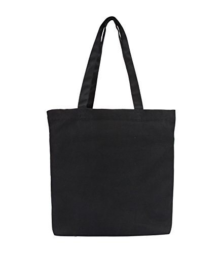 Vivinkaa Black Hathi Printed Tote Bag With Zip for Women