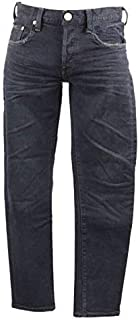 [レッドカード] テーパードパンツ Rhythm kita-BlueBlackUsed スリムテーパード デニム パンツ ユーズド加工 ボタンフライ ストレッチ 71861-kbb メンズ