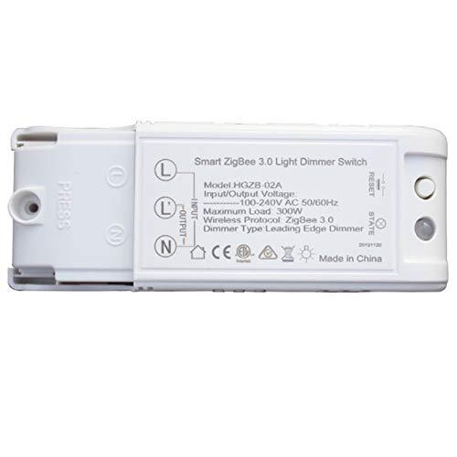 Casinlog Atenuador de Luz Inteligente ZigBee 3.0 Interruptor Modificado para el Hogar Inteligente de Bricolaje para la AplicacióN de Control Remoto Echo Plus Alexa