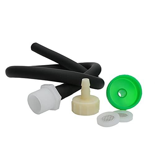20 inches Silicone Nozzle Enema Attachment Reusable Douche Black Hose Nozzle
