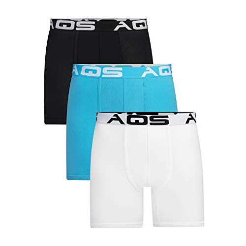 aqs Men's Boxer Briefs - 3 Pack (Small)