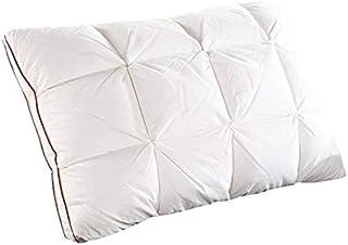 whbage Almohada estándar45 * 71 * 3 cm Pan Blanco Pato/Ganso Pluma de Plumas Almohada estándar Antibacteriano Elegante hogar Textil