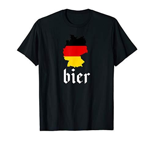 German Bier Deutschland Karte Oktoberfest T-Shirt
