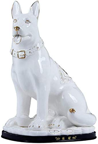 JLXQL Garden Sculpture And Statue Ceramic Dog Decoration Living Room Decoration Decoration Birthday Gift