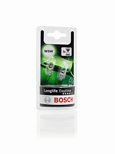 Bosch W5W Longlife Daytime Lámparas para vehículos - 12 V 5 W W2,1x9,5d - Lámparas x2