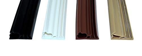 SN-TEC Universal Haustürdichtung/Türdichtung SNSK 315 (Gesamtbreite 22mm) für 5mm Nut, 15mm Falzbreite, 3 bis 8mm Anschlagluft (6 Meter) Farbauswahl: Schwarz/Weiß/Braun/Beige (Schwarz)
