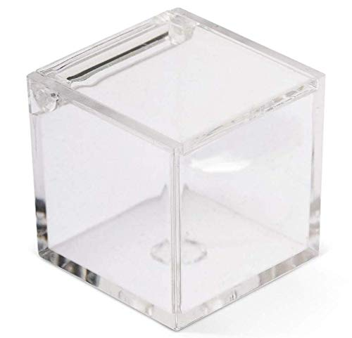 50 BOX CUBE 5x5x5 CM PLEXIGLAS TRANSPARENT für Konfetti