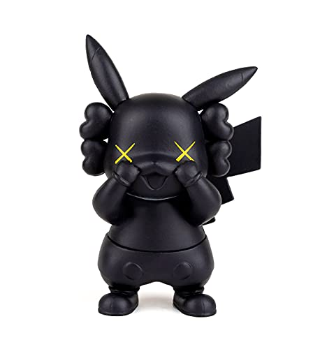 Pikachu Cosplay Gloomy Bear Action Figures GK Anime Toy Collection Birthday Gifts PVC 4 Inch(Black Pikachu)