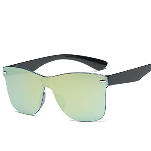 AWC 2020 Neue transparente Sonnenbrille DamenBunte Retro-ModeRandloseSonnenbrilleDamenbrille UV400, C6