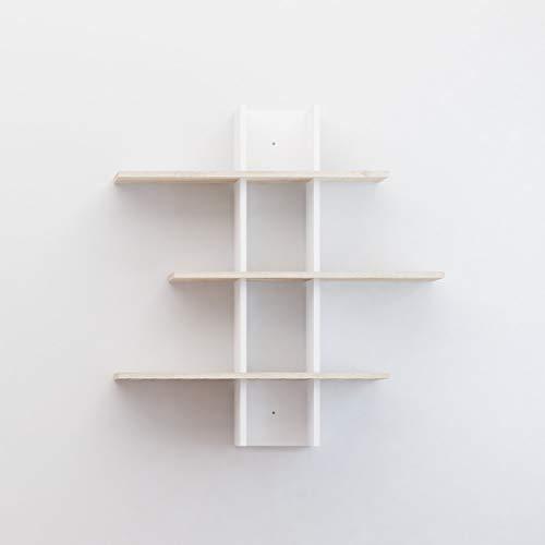 Homemania Rhodos Blanco y marrón, de partículas melaminadas, 18 mm, mobiliario de diseño para salón, Oficina, Dormitorio, Estante, mostrador, Talla única