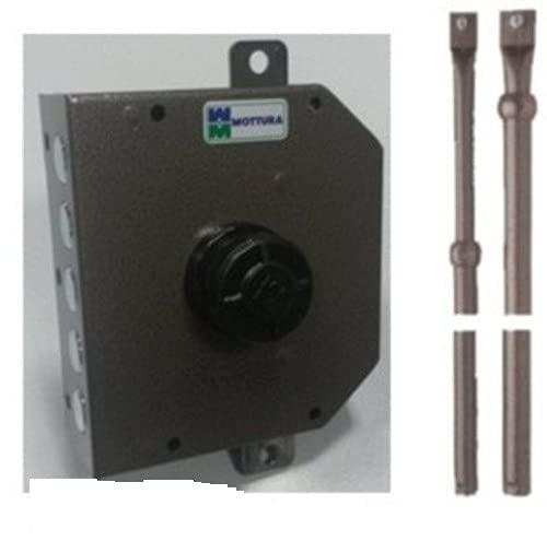 Serratura di sicurezza MOTTURA art. 621 triplice pompa-cilindro 60/80 mm con aste SINISTRA … (60 mm)