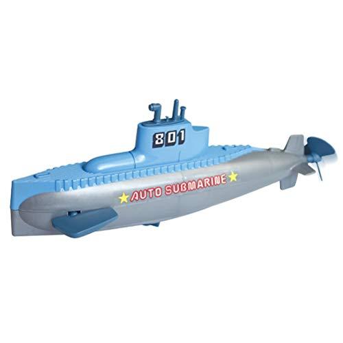 JTLB Clockwork Submarine Uhrwerk U-Boot RC Mini Kriegsschiff Kinderuhrwerk Wasserspielzeug für Kinder Schwimmbad Badezimmer Duschspielzeug
