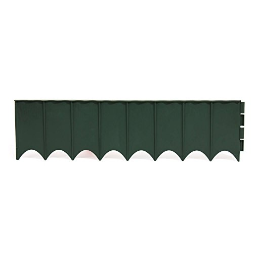 Prosper Plast IKRR-R851 595 x 16 cm Clôture de jardin, assortie (marron, terre cuite, vert) (10 pièces)